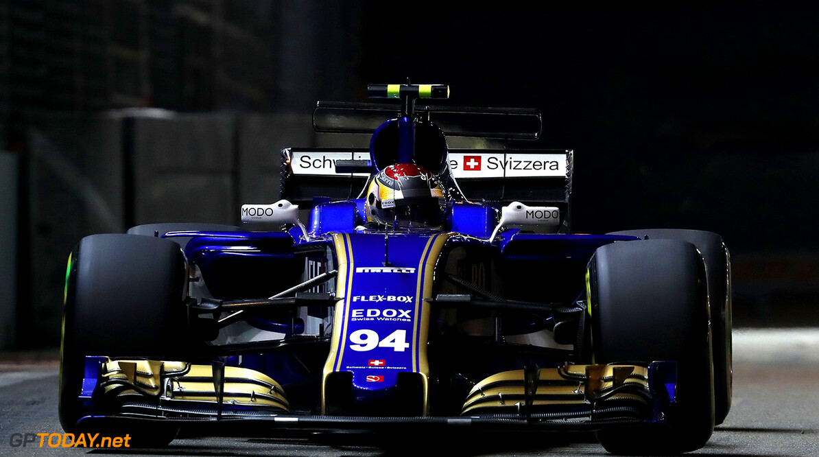 Singapore GP Friday 15/09/17 Pascal Wehrlein (D), Sauber F1 Team. Marina Bay Street Circuit.  Singapore GP Friday 15/09/17 Jean-Francois Galeron Singapore Singapore  F1 Formula One 2017 Action Wehrlein Sauber