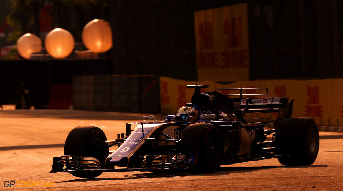 Singapore GP Friday 15/09/17 Marcus Ericsson (SWE), Sauber F1 Team. Marina Bay Street Circuit.  Singapore GP Friday 15/09/17 Jean-Francois Galeron Singapore Singapore  F1 Formula One 2017 Action Ericsson Sauber