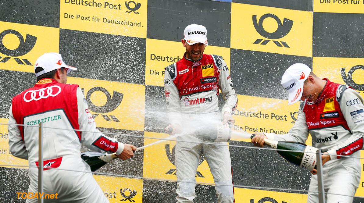 DTM race in Spielberg #99 Mike Rockenfeller, Audi RS5 DTM, #33 Ren? Rast, Audi RS5 DTM, #51 Nico M?ller, Audi RS5 DTM Motorsports: DTM race in Spielberg HZ Spielberg Austria  Motorsport Sport DTM ?sterreich