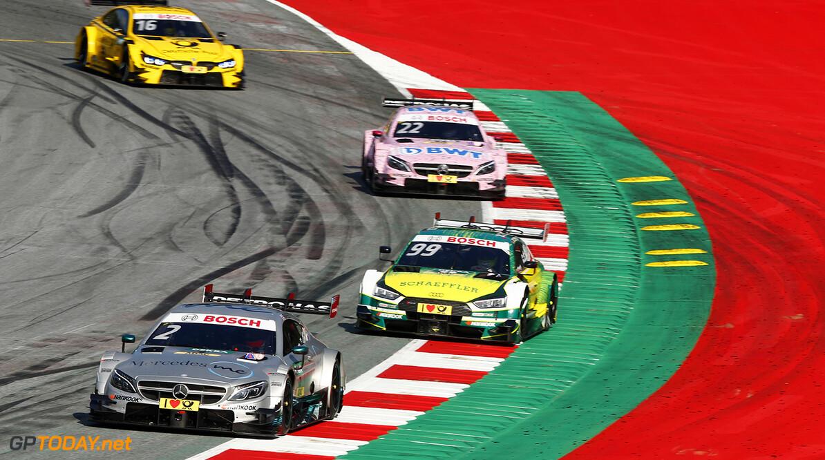 DTM race in Spielberg #2 Gary Paffett, Mercedes-AMG C 63 DTM, #99 Mike Rockenfeller, Audi RS5 DTM, #22 Lucas Auer, Mercedes-AMG C 63 DTM Motorsports: DTM race in Spielberg HZ Spielberg Austria  Motorsport Sport DTM ?sterreich