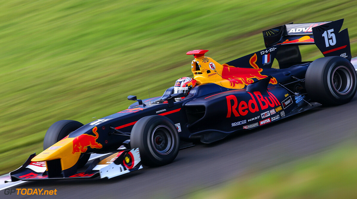 MURATA,JAPAN,24.SEP.17 - MOTORSPORTS, RED BULL JUNIOR TEAM - Japanese Super Formula Championship, Sportsland SUGO. Image shows Pierre Gasly (FRA). // Dutch Photo Agency/Red Bull Content Pool // P-20170924-01017 // Usage for editorial use only // Please go to www.redbullcontentpool.com for further information. //  Pierre Gasly T.Ogasawara  Japan  P-20170924-01017