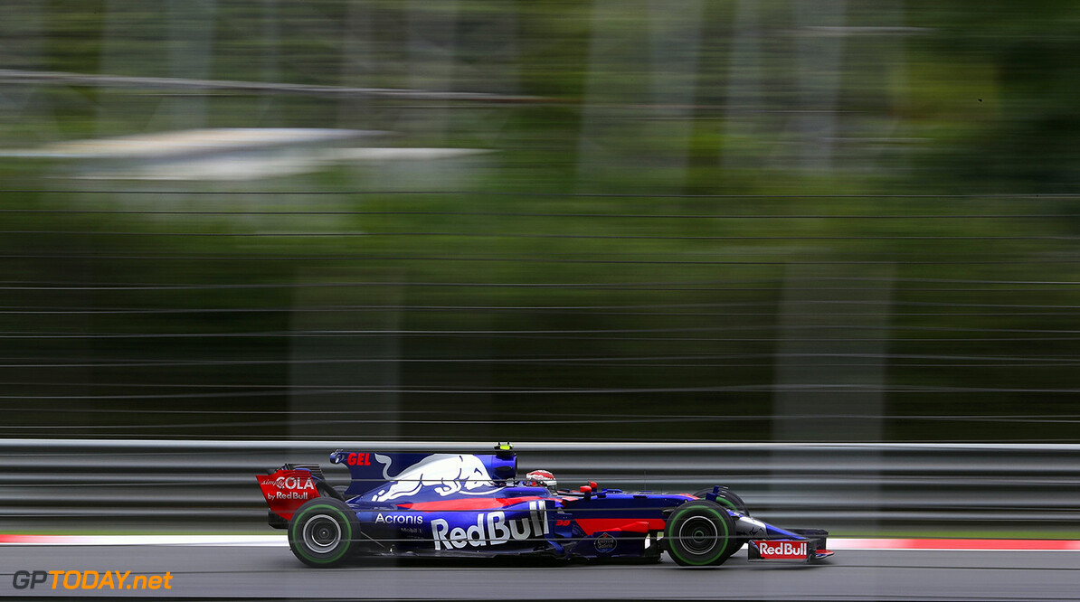 KUALA LUMPUR, MALAYSIA - SEPTEMBER 29: Sean Gelael of Indonesia driving the (38) Scuderia Toro Rosso STR12 on track during practice for the Malaysia Formula One Grand Prix at Sepang Circuit on September 29, 2017 in Kuala Lumpur, Malaysia.  (Photo by Clive Mason/Getty Images) // Getty Images / Red Bull Content Pool  // P-20170929-00538 // Usage for editorial use only // Please go to www.redbullcontentpool.com for further information. //  F1 Grand Prix of Malaysia - Practice Clive Mason Sepang Malaysia  P-20170929-00538