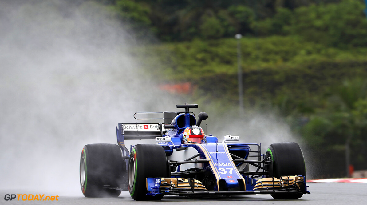 Malaysian GP Friday 29/09/17 Charles Leclerc (MON) Sauber F1 Team.  Sepang International Circuit.  Malaysian GP Friday 29/09/17 Jad Sherif Sepang Malaysia  F1 Formula 1 One 2017 action Leclerc Sauber