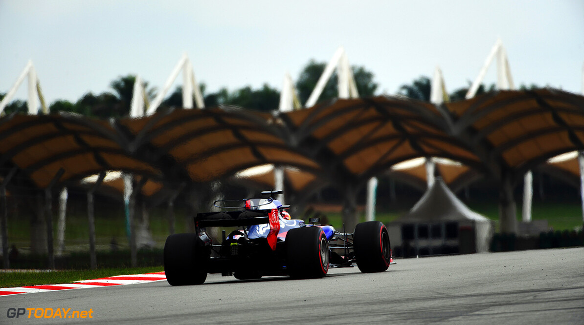 Formula One World Championship www.sutton-images.com  Pierre Gasly (FRA) Scuderia Toro Rosso STR12 at Formula One World Championship, Rd15, Malaysian Grand Prix, Practice, Sepang, Malaysia, Friday 29 September 2017. Malaysian Grand Prix Practice  Sepang Malaysia  F1 Formula 1 GP action rear