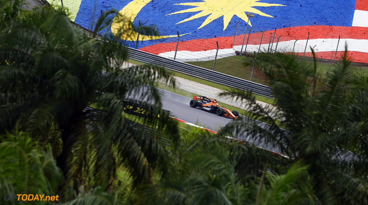 Sepang International Circuit, Sepang, Malaysia. Friday 29 September 2017. Fernando Alonso, McLaren MCL32 Honda. Photo: Steven Tee/McLaren ref: Digital Image _O3I1991  Steven Tee    f1 formula 1 formula one gp grand prix Action
