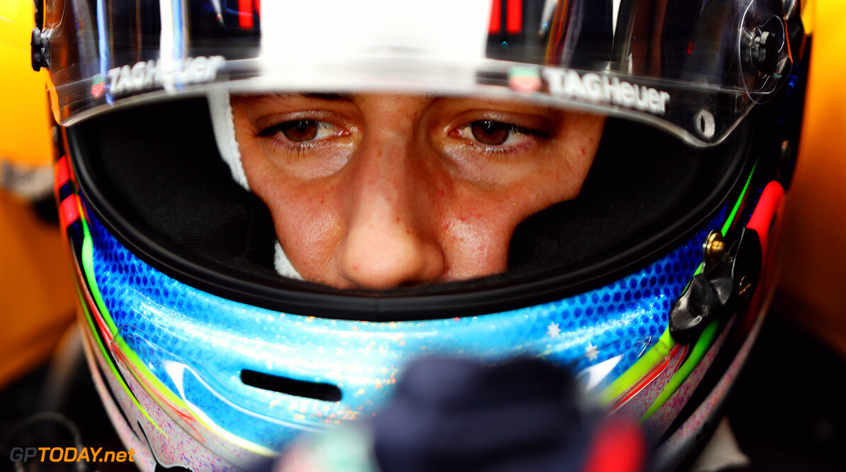 KUALA LUMPUR, MALAYSIA - SEPTEMBER 29:  Daniel Ricciardo of Australia and Red Bull Racing prepares to drive in the garage during practice for the Malaysia Formula One Grand Prix at Sepang Circuit on September 29, 2017 in Kuala Lumpur, Malaysia.  (Photo by Mark Thompson/Getty Images) // Getty Images / Red Bull Content Pool  // P-20170929-00360 // Usage for editorial use only // Please go to www.redbullcontentpool.com for further information. //  F1 Grand Prix of Malaysia - Practice Mark Thompson Sepang Malaysia  P-20170929-00360
