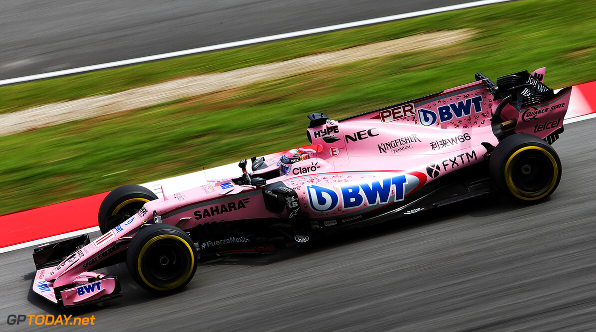 Formula One World Championship Sergio Perez (MEX) Sahara Force India F1 VJM10. Malaysian Grand Prix, Friday 29th September 2017. Sepang, Kuala Lumpur, Malaysia. Motor Racing - Formula One World Championship - Malaysian Grand Prix - Practice Day - Sepang, Malaysia James Moy Photography Sepang Malaysia  Formula One Formula 1 F1 GP Grand Prix Kuala Lumpur Sepang Malaysia Malaysian JM763 Sepang International Circuit Sergio P?rez Sergio P?rez Mendoza Checo Perez Checo P?rez Action Track GP1715b GP1715b_M