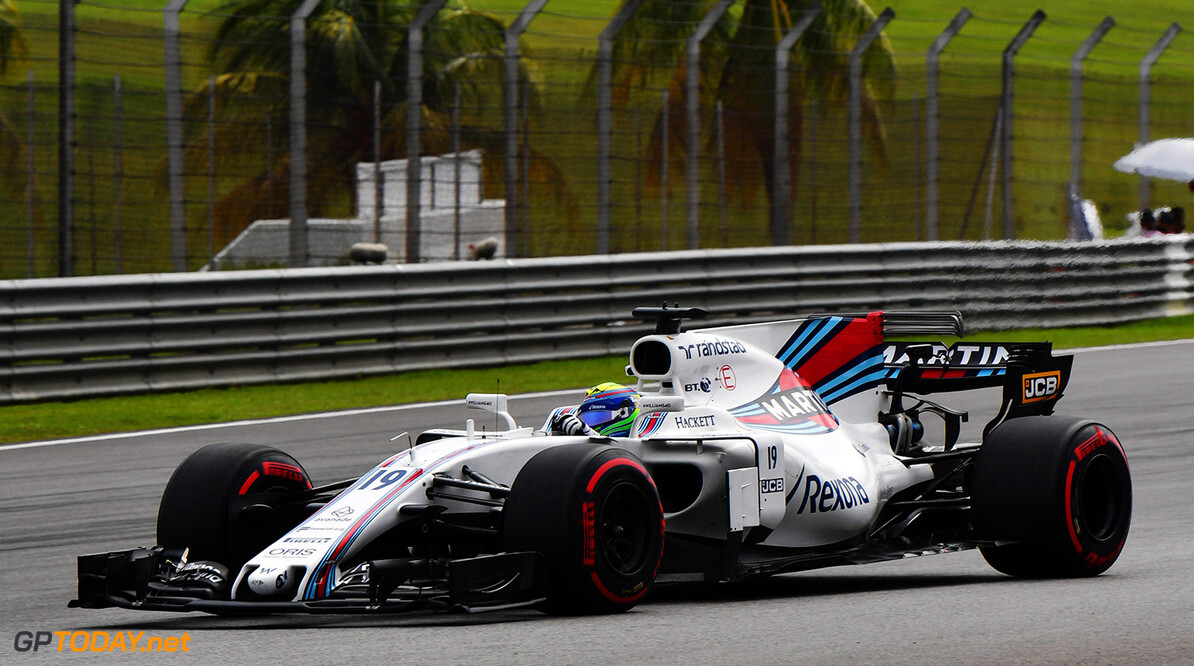 Formula One World Championship www.sutton-images.com  Felipe Massa (BRA) Williams FW40 at Formula One World Championship, Rd15, Malaysian Grand Prix, Practice, Sepang, Malaysia, Friday 29 September 2017. Malaysian Grand Prix Practice  Sepang Malaysia  F1 Formula 1 GP action