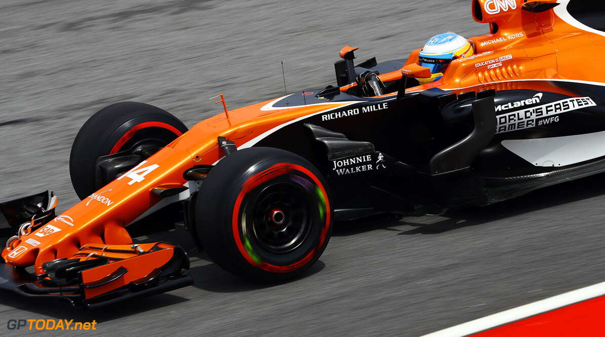 Sepang International Circuit, Sepang, Malaysia. Friday 29 September 2017. Fernando Alonso, McLaren MCL32 Honda.  Photo: Steven Tee/McLaren ref: Digital Image _R3I3190  Steven Tee    f1 formula 1 formula one gp grand prix Action