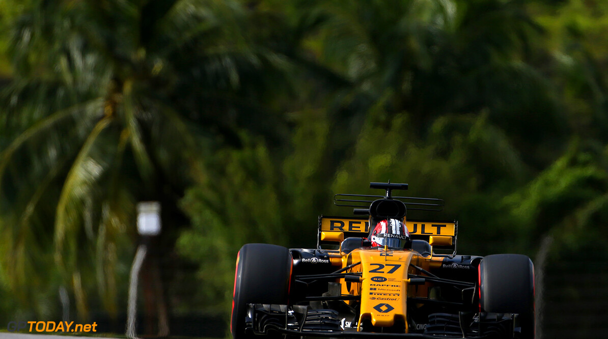 Formula One World Championship Nico Hulkenberg (GER) Renault Sport F1 Team RS17. Malaysian Grand Prix, Saturday 30th September 2017. Sepang, Kuala Lumpur, Malaysia. Motor Racing - Formula One World Championship - Malaysian Grand Prix - Qualifying Day - Sepang, Malaysia Renault Sport Formula One Team Sepang Malaysia  Formula One Formula 1 F1 GP Grand Prix Kuala Lumpur Sepang Malaysia Malaysian JM764 Sepang International Circuit Hulkenberg H?lkenberg Huelkenberg Portrait GP1715c