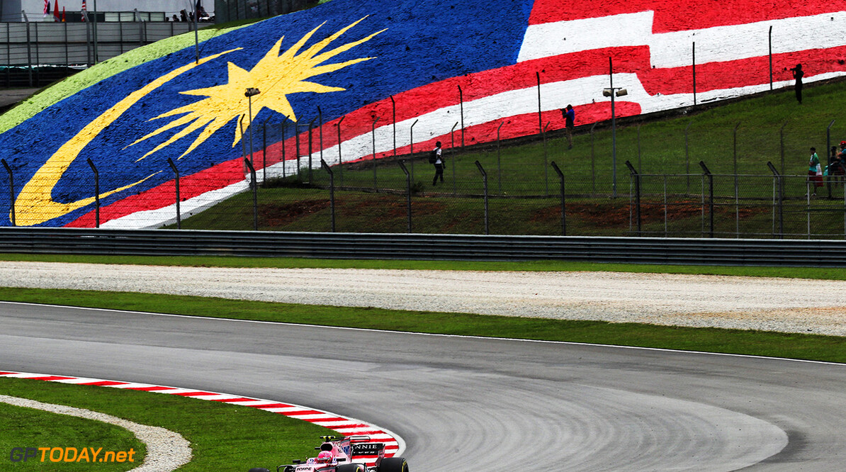Formula One World Championship Esteban Ocon (FRA) Sahara Force India F1 VJM10. Malaysian Grand Prix, Sunday 1st October 2017. Sepang, Kuala Lumpur, Malaysia. Motor Racing - Formula One World Championship - Malaysian Grand Prix - Race Day - Sepang, Malaysia James Moy Photography Sepang Malaysia  Formula One Formula 1 F1 GP Grand Prix Kuala Lumpur Sepang Malaysia Malaysian JM765 Sepang International Circuit Action Track GP1715d GP1715d_M