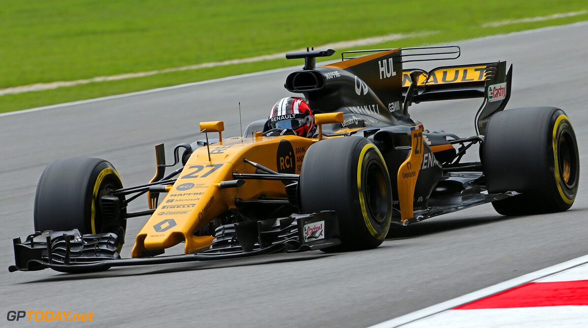 Formula One World Championship Nico Hulkenberg (GER) Renault Sport F1 Team RS17. Malaysian Grand Prix, Saturday 30th September 2017. Sepang, Kuala Lumpur, Malaysia. Motor Racing - Formula One World Championship - Malaysian Grand Prix - Qualifying Day - Sepang, Malaysia Renault Sport Formula One Team Sepang Malaysia  Formula One Formula 1 F1 GP Grand Prix Kuala Lumpur Sepang Malaysia Malaysian JM764 Sepang International Circuit Hulkenberg H?lkenberg Huelkenberg Action Track GP1715c