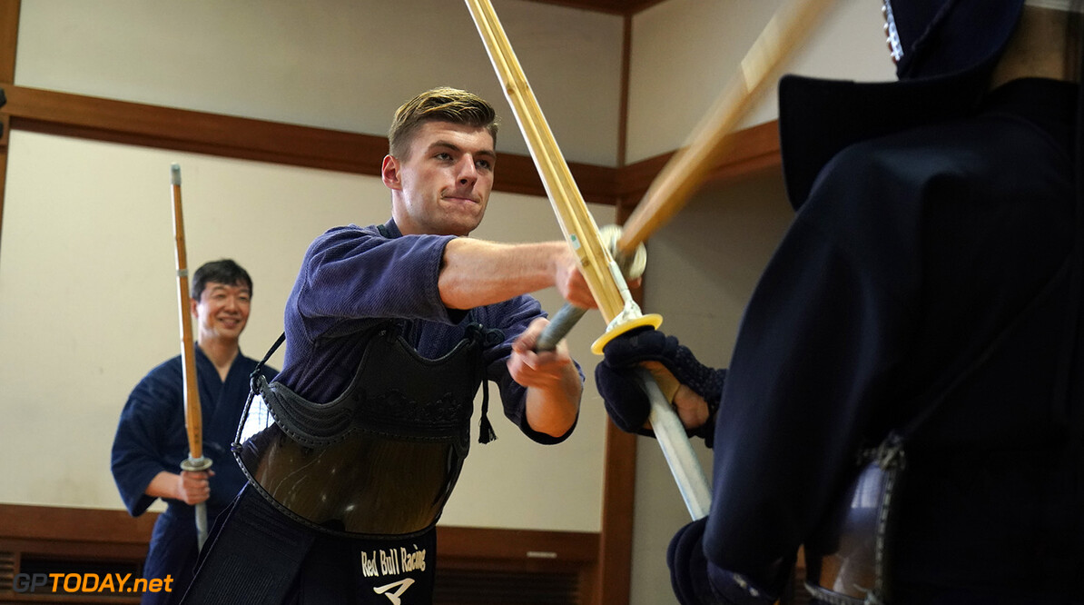 TOKYO, JAPAN - OCTOBER 03:  Max Verstappen of Netherlands and Red Bull Racing learns the martial art of kendo on October 3, 2017 in Tokyo, Japan.  (Photo by Ken Ishii/Getty Images) // Getty Images / Red Bull Content Pool  // P-20171005-00161 // Usage for editorial use only // Please go to www.redbullcontentpool.com for further information. //  F1 Grand Prix of Japan - Previews  Suzuka Japan  P-20171005-00161