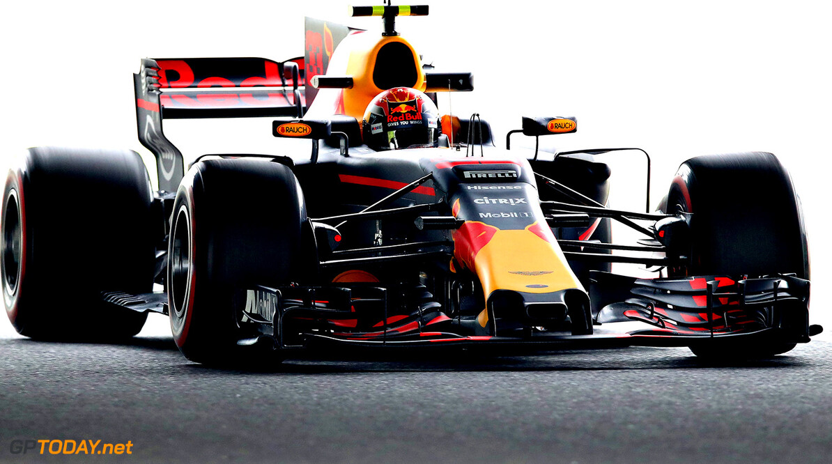 SUZUKA, JAPAN - OCTOBER 06: Max Verstappen of the Netherlands driving the (33) Red Bull Racing Red Bull-TAG Heuer RB13 TAG Heuer on track during practice for the Formula One Grand Prix of Japan at Suzuka Circuit on October 6, 2017 in Suzuka.  (Photo by Clive Mason/Getty Images) // Getty Images / Red Bull Content Pool  // P-20171006-00107 // Usage for editorial use only // Please go to www.redbullcontentpool.com for further information. //  F1 Grand Prix of Japan - Practice Clive Mason Suzuka Japan  P-20171006-00107