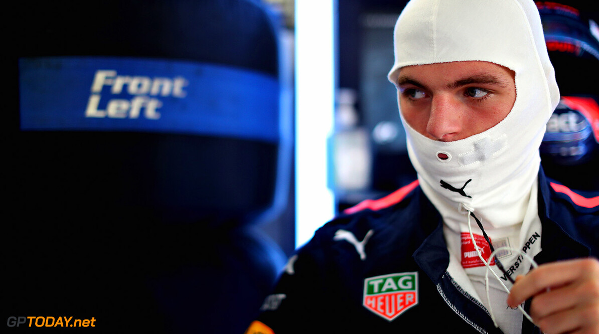 SUZUKA, JAPAN - OCTOBER 06:  Max Verstappen of Netherlands and Red Bull Racing prepares to drive in the garage during practice for the Formula One Grand Prix of Japan at Suzuka Circuit on October 6, 2017 in Suzuka.  (Photo by Mark Thompson/Getty Images) // Getty Images / Red Bull Content Pool  // P-20171006-00340 // Usage for editorial use only // Please go to www.redbullcontentpool.com for further information. //  F1 Grand Prix of Japan - Practice Mark Thompson Suzuka Japan  P-20171006-00340