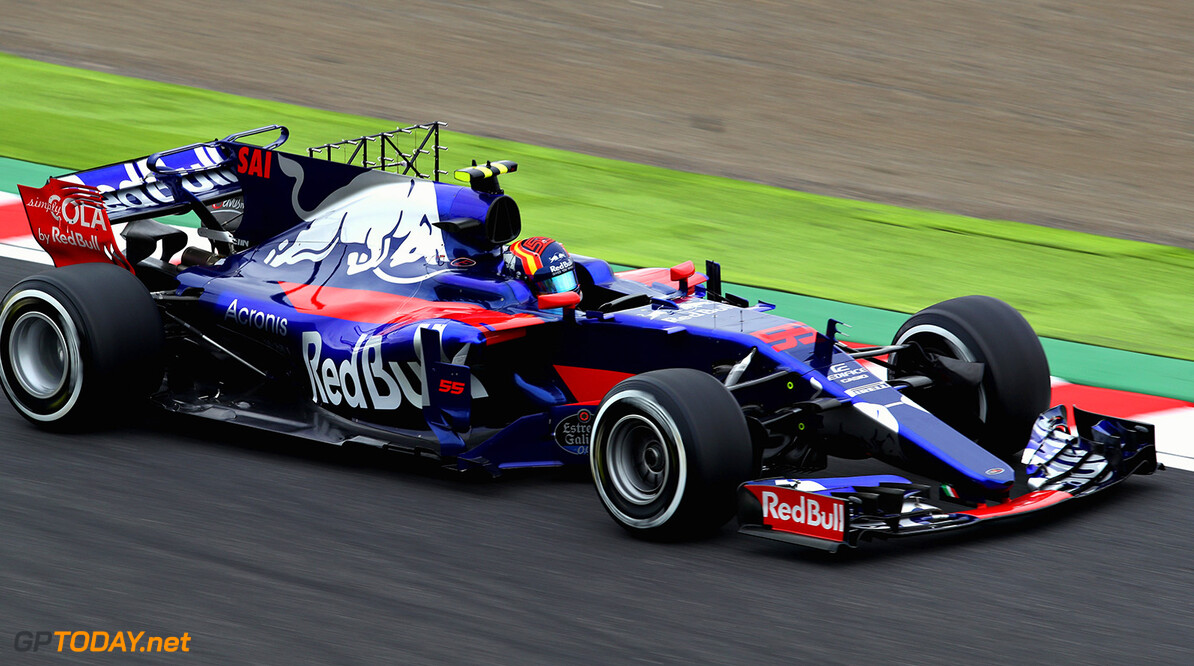 SUZUKA, JAPAN - OCTOBER 06: Carlos Sainz of Spain driving the (55) Scuderia Toro Rosso STR12 on track during practice for the Formula One Grand Prix of Japan at Suzuka Circuit on October 6, 2017 in Suzuka.  (Photo by Clive Mason/Getty Images) // Getty Images / Red Bull Content Pool  // P-20171006-00489 // Usage for editorial use only // Please go to www.redbullcontentpool.com for further information. //  F1 Grand Prix of Japan - Practice Clive Mason Suzuka Japan  P-20171006-00489