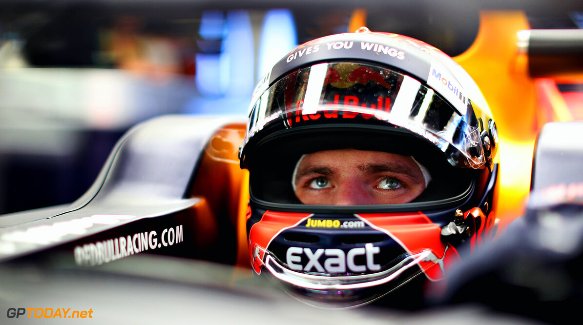 SUZUKA, JAPAN - OCTOBER 06:  Max Verstappen of Netherlands and Red Bull Racing prepares to drive in the garage during practice for the Formula One Grand Prix of Japan at Suzuka Circuit on October 6, 2017 in Suzuka.  (Photo by Mark Thompson/Getty Images) // Getty Images / Red Bull Content Pool  // P-20171006-00313 // Usage for editorial use only // Please go to www.redbullcontentpool.com for further information. //  F1 Grand Prix of Japan - Practice Mark Thompson Suzuka Japan  P-20171006-00313