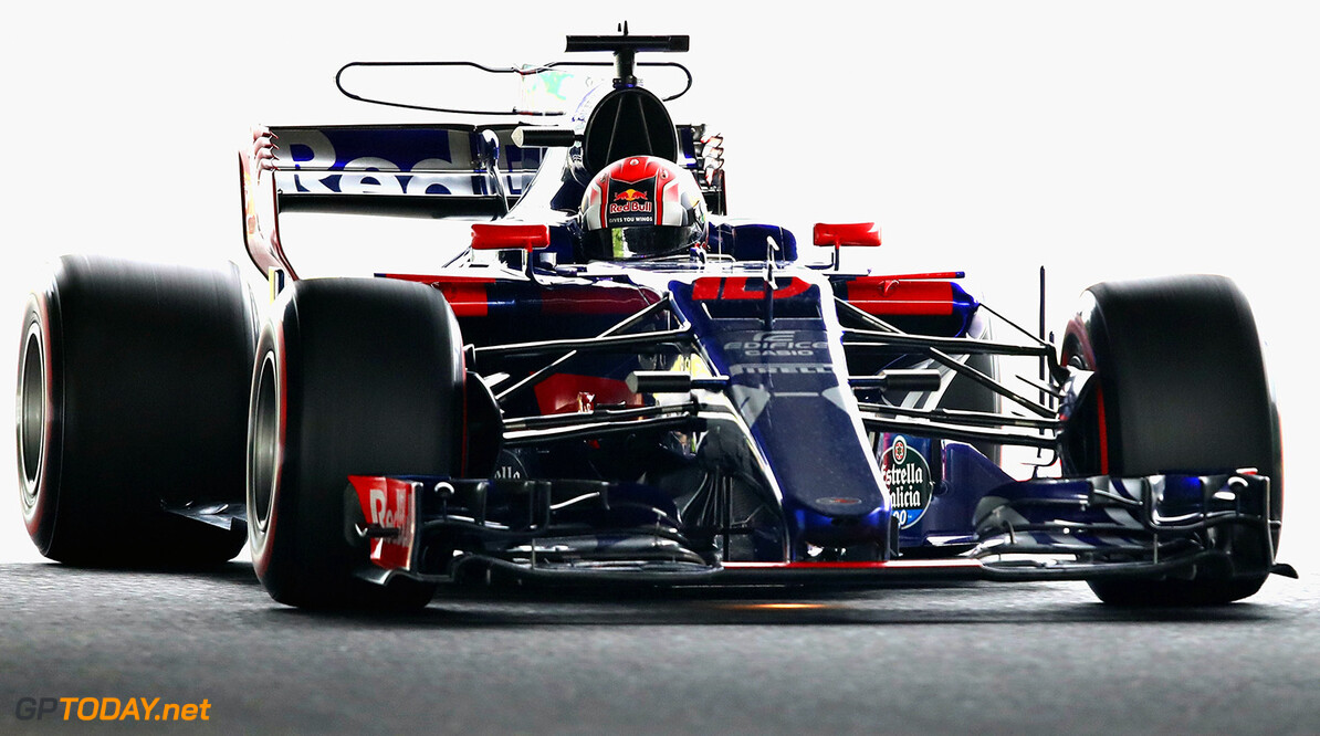 SUZUKA, JAPAN - OCTOBER 06: Pierre Gasly of France and Scuderia Toro Rosso drives in the (10) Scuderia Toro Rosso STR12 on track during practice for the Formula One Grand Prix of Japan at Suzuka Circuit on October 6, 2017 in Suzuka.  (Photo by Clive Mason/Getty Images) // Getty Images / Red Bull Content Pool  // P-20171006-00480 // Usage for editorial use only // Please go to www.redbullcontentpool.com for further information. //  F1 Grand Prix of Japan - Practice Clive Mason Suzuka Japan  P-20171006-00480