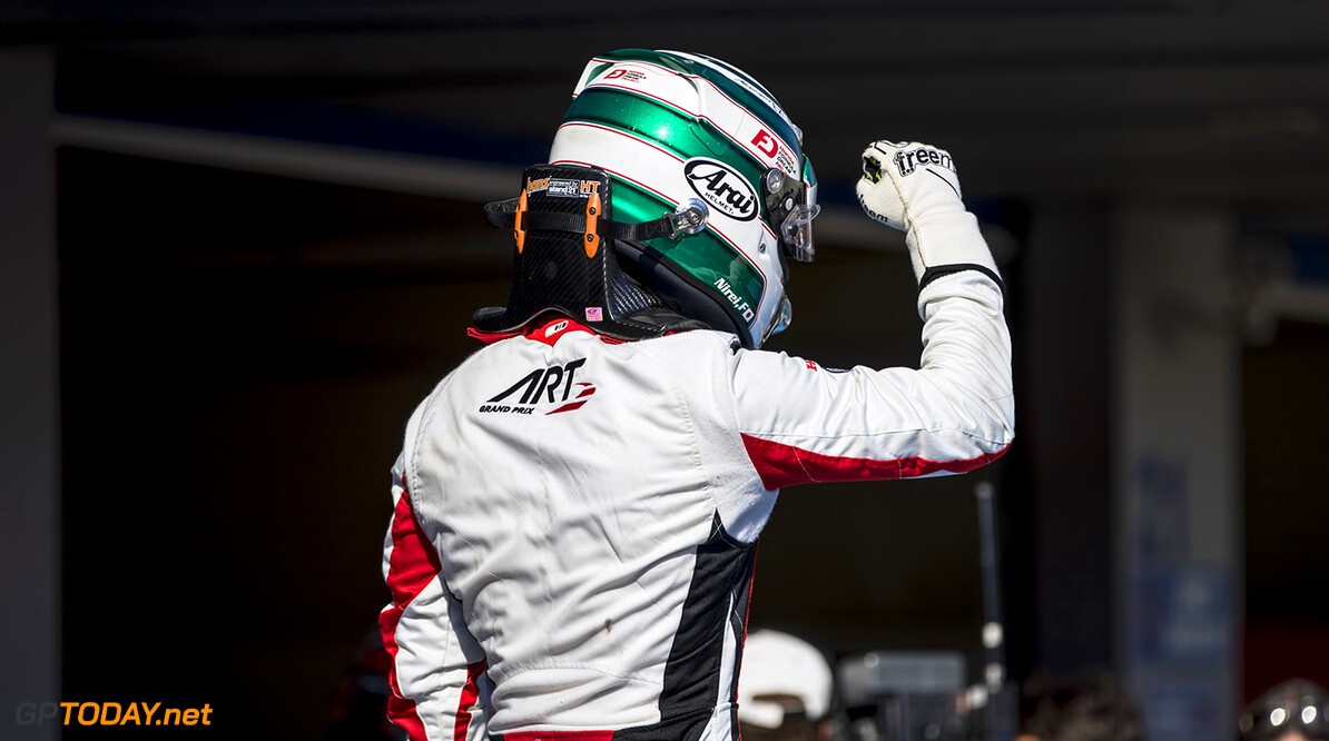 2017 GP3 Series Round 7.  Circuito de Jerez, Jerez, Spain. Saturday 7 October 2017. Nirei Fukuzumi (JPN, ART Grand Prix).  Photo: Zak Mauger/GP3 Series Media Service. ref: Digital Image _56I5753   Zak Mauger    Race One 1 portrait