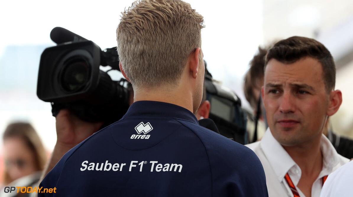 United States GP Thursday 19/10/17 Marcus Ericsson (SWE), Sauber F1 Team.  Circuit of the Americas TV interviews. United States GP Thursday 19/10/17 Jad Sherif Austin USA  F1 Formula 1 One 2017 Portraits Ericsson Sauber