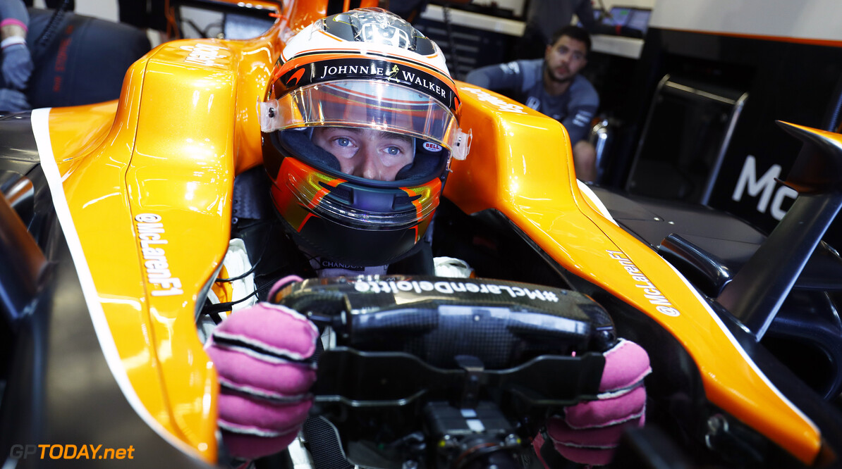Circuit of the Americas, Austin, Texas, United States of America. Friday 20 October 2017. Stoffel Vandoorne, McLaren, in his cockpit. Photo: Steven Tee/McLaren ref: Digital Image _O3I1936  Steven Tee    f1 formula 1 formula one gp grand prix Portrait Helmets