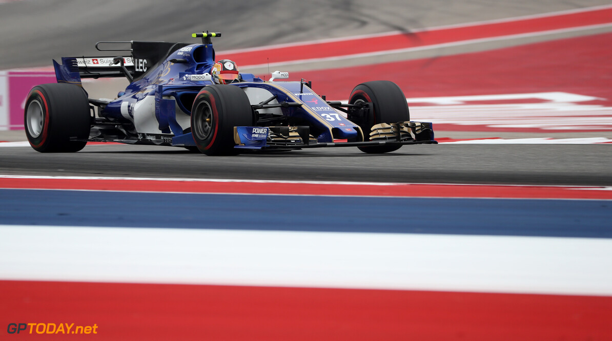 United States GP Friday 20/10/17  Charles Leclerc (MON) Sauber F1 Team.  Circuit of the Americas.  United States GP Friday 20/10/17 Jad Sherif Austin USA  F1 Formula 1 One 2017 action Leclerc Sauber