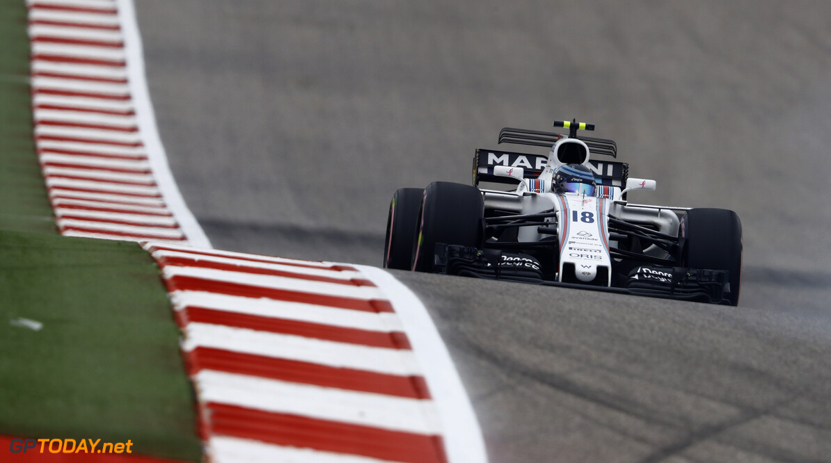 Circuit of the Americas, Austin, Texas, United States of America. Friday 20 October 2017. Lance Stroll, Williams FW40 Mercedes. Photo: Steven Tee/Williams ref: Digital Image _O3I2073  Steven Tee    f1 formula 1 formula one gp Action