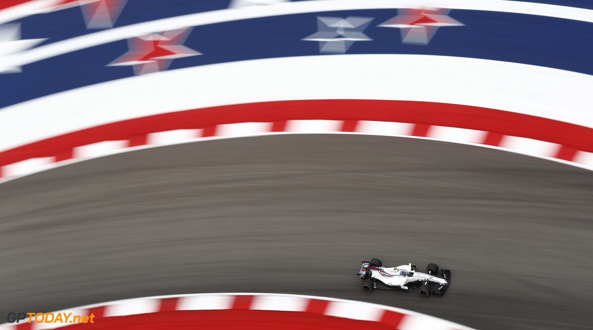 Circuit of the Americas, Austin, Texas, United States of America. Friday 20 October 2017. Lance Stroll, Williams FW40 Mercedes. Photo: Sam Bloxham/Williams ref: Digital Image _J6I6633      f1 formula 1 formula one gp Action
