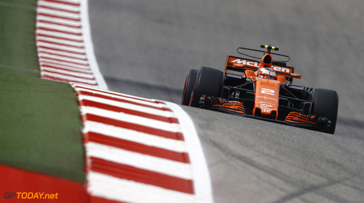 Circuit of the Americas, Austin, Texas, United States of America. Friday 20 October 2017. Stoffel Vandoorne, McLaren MCL32 Honda. Photo: Steven Tee/McLaren ref: Digital Image _R3I0311  Steven Tee    f1 formula 1 formula one gp grand prix Action