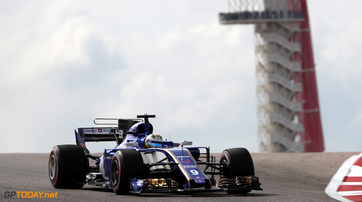 United States GP Friday 20/10/17 Marcus Ericsson (SWE), Sauber F1 Team.  Circuit of the Americas.  United States GP Friday 20/10/17 Jad Sherif Austin USA  F1 Formula 1 One 2017 Action Ericsson Sauber