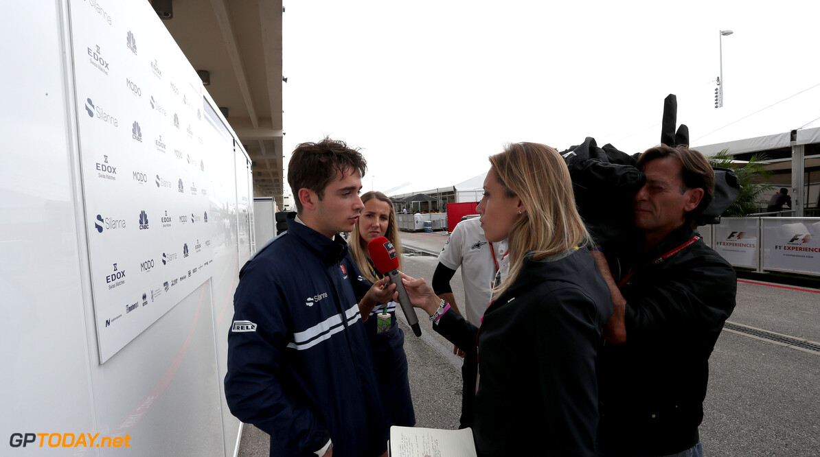 United States GP Friday 20/10/17  Charles Leclerc (MON) Sauber F1 Team. Circuit of the Americas.  United States GP Friday 20/10/17 Jean-Francois Galeron Austin USA  F1 Formula One 2017 Journalists Paddock Leclerc Sauber