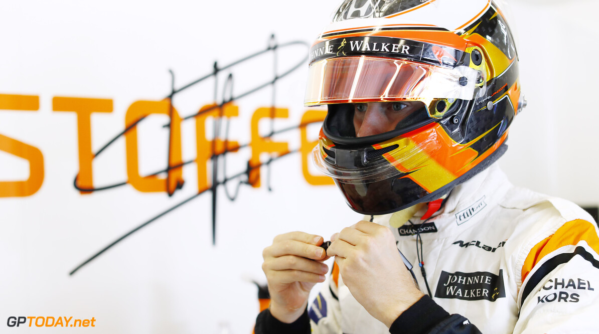 Circuit of the Americas, Austin, Texas, United States of America. Friday 20 October 2017. Stoffel Vandoorne, McLaren. Photo: Steven Tee/McLaren ref: Digital Image _R3I9871  Steven Tee    f1 formula 1 formula one gp grand prix Portrait Helmets
