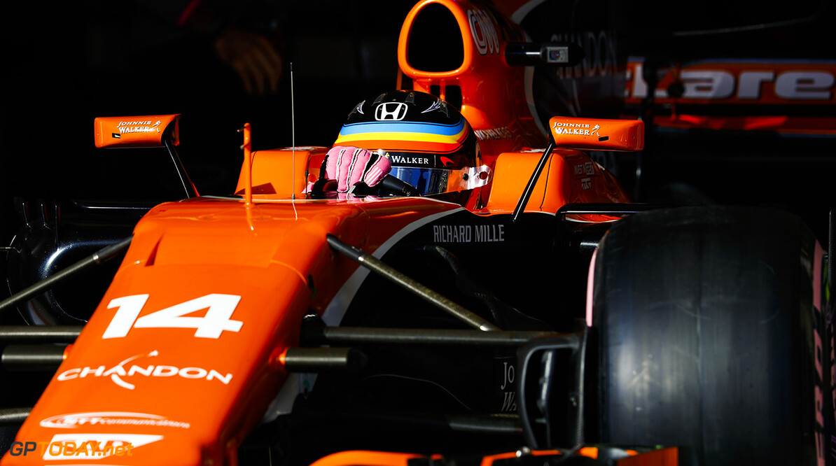 Circuit of the Americas, Austin, Texas, United States of America. Saturday 21 October 2017. Fernando Alonso, McLaren MCL32 Honda. Photo: Steven Tee/McLaren ref: Digital Image _R3I1328  Steven Tee    f1 formula 1 formula one gp grand prix Action