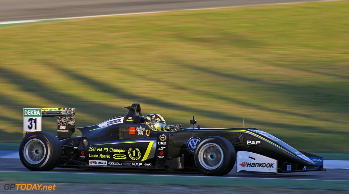 FIA Formula 3 European Championship, round 10, race 2, Hockenhei 31 Lando Norris (GBR, Carlin, Dallara F317 - Volkswagen), FIA Formula 3 European Championship, round 10, race 2, Hockenheimring (DEU), 13. - 15. October 2017 FIA Formula 3 European Championship 2017, round 10, race 2, Hockenheimring (DEU) Thomas Suer Hockenheim Germany