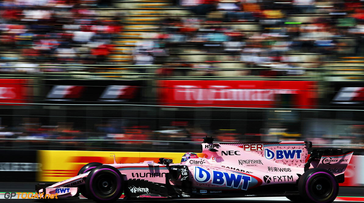Formula One World Championship Sergio Perez (MEX) Sahara Force India F1 VJM10. Mexican Grand Prix, Friday 27th October 2017. Mexico City, Mexico. Motor Racing - Formula One World Championship - Mexican Grand Prix - Practice Day - Mexico City, Mexico James Moy Photography Mexico City Mexico  Formula One Formula 1 F1 GP Grand Prix Circuit Mexico Mexican Mexico City Autodromo Hermanos JM779 Sergio P?rez Sergio P?rez Mendoza Checo Perez Checo P?rez Action Track GP1718b GP1718b_M