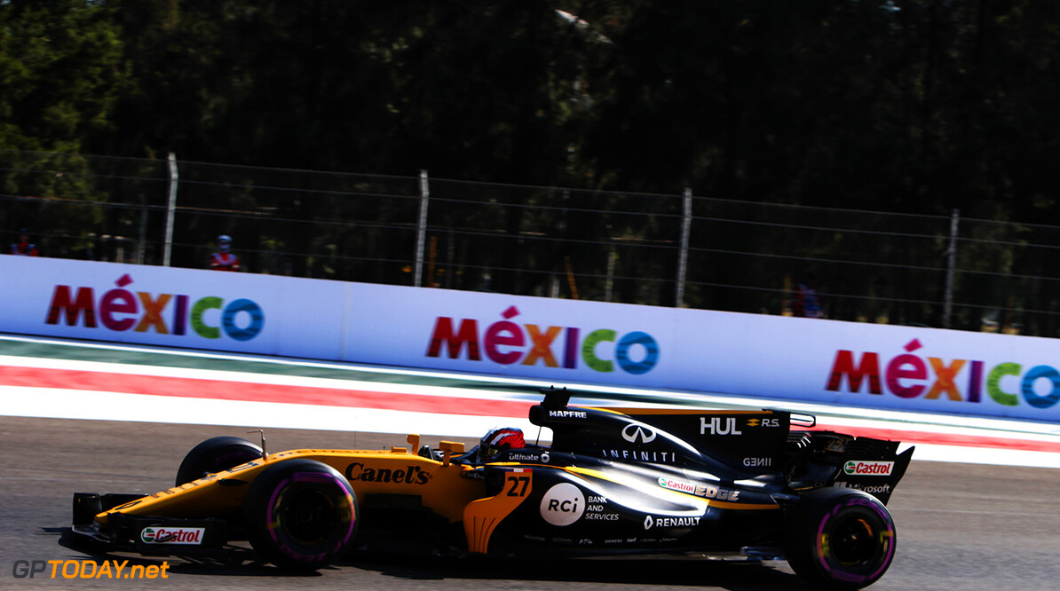 Formula One World Championship Nico Hulkenberg (GER) Renault Sport F1 Team RS17. Mexican Grand Prix, Friday 27th October 2017. Mexico City, Mexico. Motor Racing - Formula One World Championship - Mexican Grand Prix - Practice Day - Mexico City, Mexico Renault Sport Formula One Team Mexico City Mexico  Formula One Formula 1 F1 GP Grand Prix Circuit Mexico Mexican Mexico City Autodromo Hermanos JM779 Hulkenberg H?lkenberg Huelkenberg GP1718b