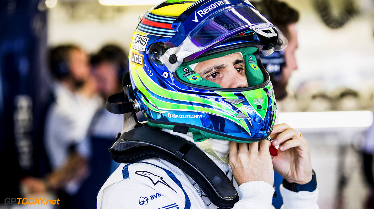 Autodromo Hermanos Rodriguez, Mexico City, Mexico. Friday 27 October 2017. Felipe Massa, Williams Martini Racing. Photo: Zak Mauger/Williams ref: Digital Image _31I6097  Glenn Dunbar    f1 formula 1 formula one gp Portrait Helmets
