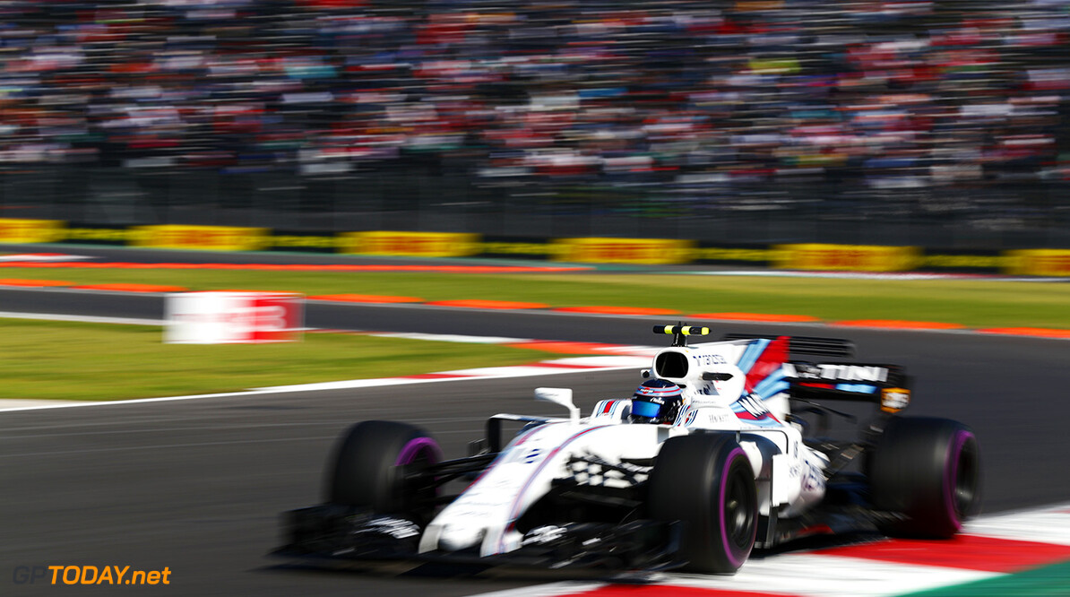 Autodromo Hermanos Rodriguez, Mexico City, Mexico. Friday 27 October 2017. Lance Stroll, Williams FW40 Mercedes. Photo: Sam Bloxham/Williams ref: Digital Image _J6I8904      f1 formula 1 formula one gp Action