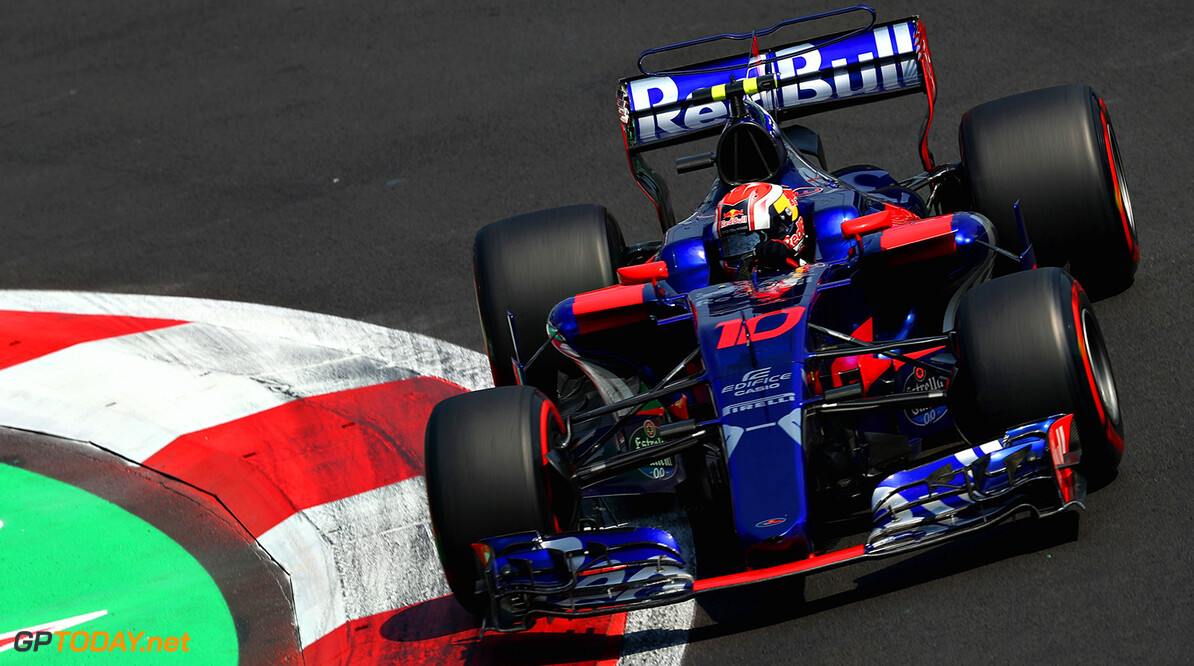 MEXICO CITY, MEXICO - OCTOBER 27: Pierre Gasly of France and Scuderia Toro Rosso drives in the (10) Scuderia Toro Rosso STR12 on track during practice for the Formula One Grand Prix of Mexico at Autodromo Hermanos Rodriguez on October 27, 2017 in Mexico City, Mexico.  (Photo by Mark Thompson/Getty Images) // Getty Images / Red Bull Content Pool  // P-20171028-00229 // Usage for editorial use only // Please go to www.redbullcontentpool.com for further information. //  F1 Grand Prix of Mexico - Practice Mark Thompson Mexico City Mexico  P-20171028-00229