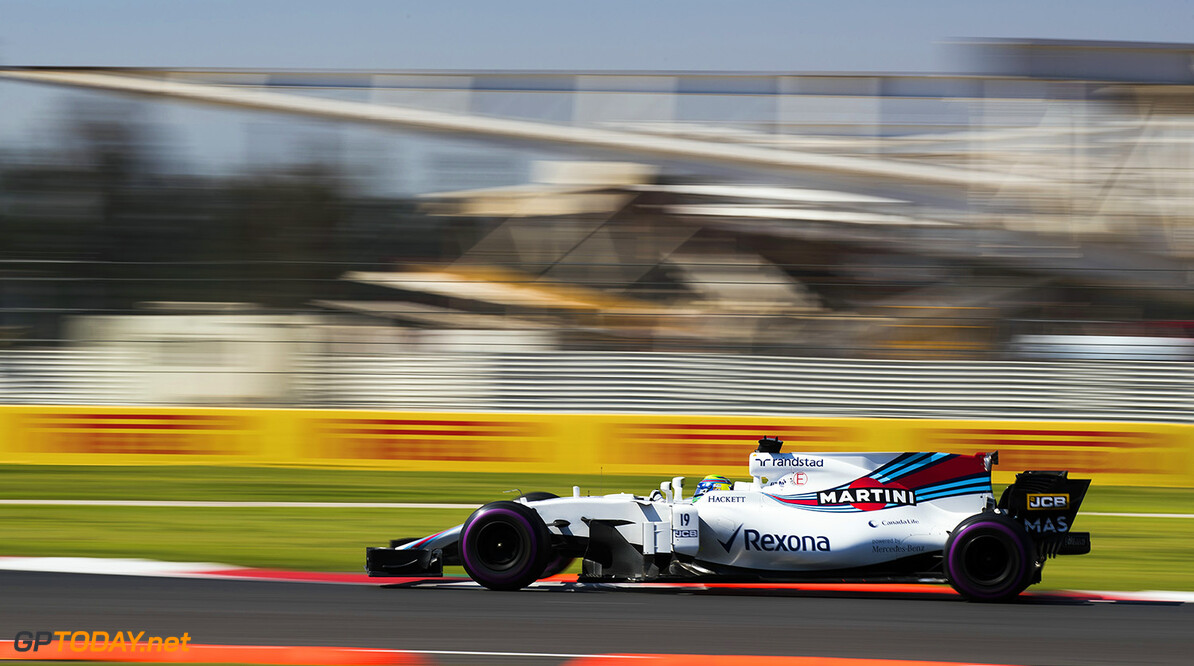 Autodromo Hermanos Rodriguez, Mexico City, Mexico. Friday 27 October 2017. Felipe Massa, Williams FW40 Mercedes. Photo: Sam Bloxham/Williams ref: Digital Image _J6I9033      f1 formula 1 formula one gp Action
