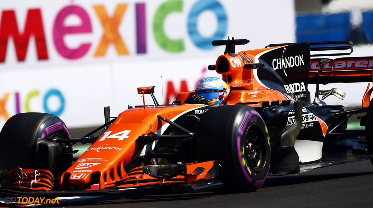 Autodromo Hermanos Rodriguez, Mexico City, Mexico. Friday 27 October 2017. Fernando Alonso, McLaren MCL32 Honda.  Photo: Andrew Hone/McLaren ref: Digital Image _ONZ0541      f1 formula 1 formula one gp grand prix action