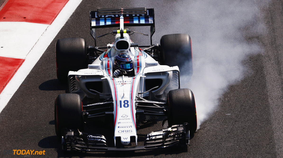 Autodromo Hermanos Rodriguez, Mexico City, Mexico. Friday 27 October 2017. Lance Stroll, Williams FW40 Mercedes. Photo: Zak Mauger/Williams ref: Digital Image _56I4669  Zak Mauger    f1 formula 1 formula one gp Action