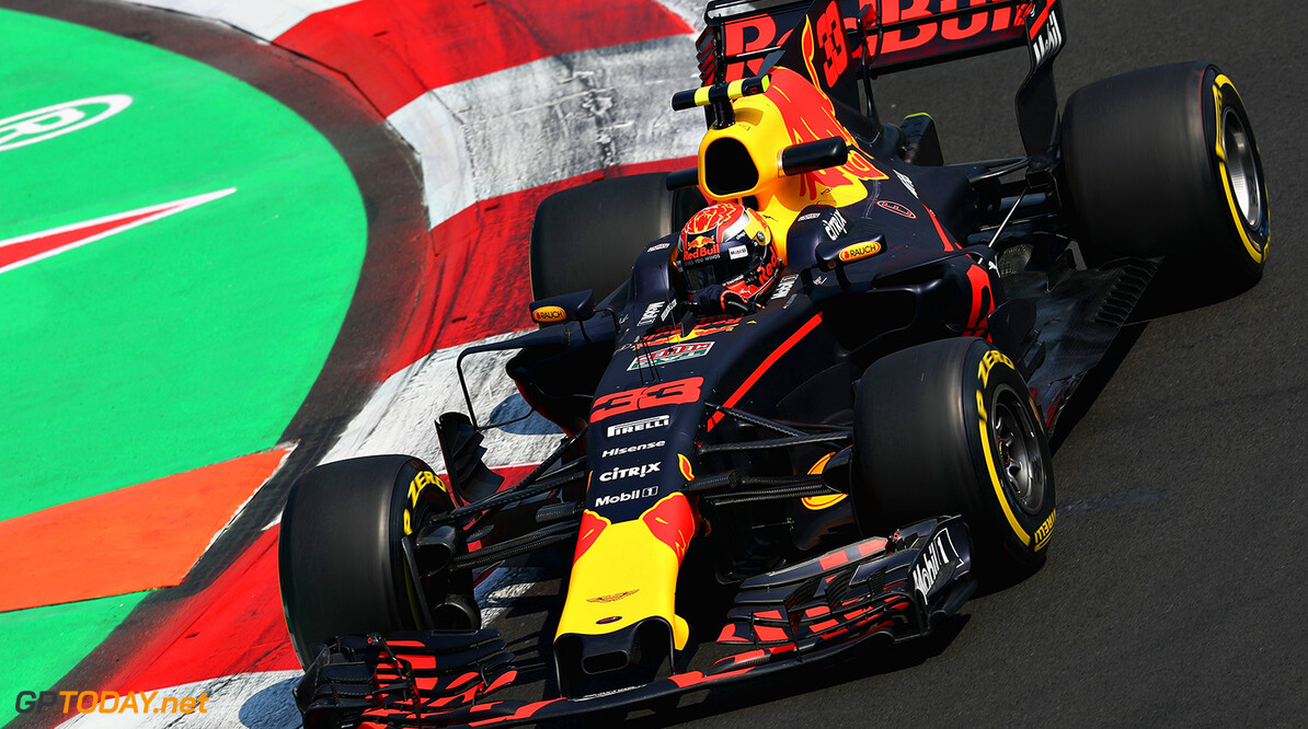 MEXICO CITY, MEXICO - OCTOBER 27: Max Verstappen of the Netherlands driving the (33) Red Bull Racing Red Bull-TAG Heuer RB13 TAG Heuer on track during practice for the Formula One Grand Prix of Mexico at Autodromo Hermanos Rodriguez on October 27, 2017 in Mexico City, Mexico.  (Photo by Mark Thompson/Getty Images) // Getty Images / Red Bull Content Pool  // P-20171028-00208 // Usage for editorial use only // Please go to www.redbullcontentpool.com for further information. //  F1 Grand Prix of Mexico - Practice Mark Thompson Mexico City Mexico  P-20171028-00208