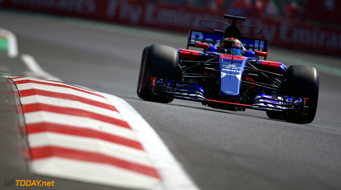 MEXICO CITY, MEXICO - OCTOBER 27:  Brendon Hartley of New Zealand driving the (28) Scuderia Toro Rosso STR12 on track during practice for the Formula One Grand Prix of Mexico at Autodromo Hermanos Rodriguez on October 27, 2017 in Mexico City, Mexico.  (Photo by Clive Mason/Getty Images) // Getty Images / Red Bull Content Pool  // P-20171028-00055 // Usage for editorial use only // Please go to www.redbullcontentpool.com for further information. //  F1 Grand Prix of Mexico - Practice Clive Mason Mexico City Mexico  P-20171028-00055