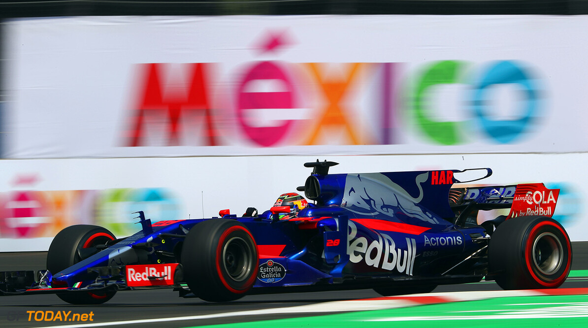 MEXICO CITY, MEXICO - OCTOBER 27: Brendon Hartley of New Zealand driving the (28) Scuderia Toro Rosso STR12 on track during practice for the Formula One Grand Prix of Mexico at Autodromo Hermanos Rodriguez on October 27, 2017 in Mexico City, Mexico.  (Photo by Clive Rose/Getty Images) // Getty Images / Red Bull Content Pool  // P-20171027-01902 // Usage for editorial use only // Please go to www.redbullcontentpool.com for further information. //  F1 Grand Prix of Mexico - Practice Clive Rose Mexico City Mexico  P-20171027-01902