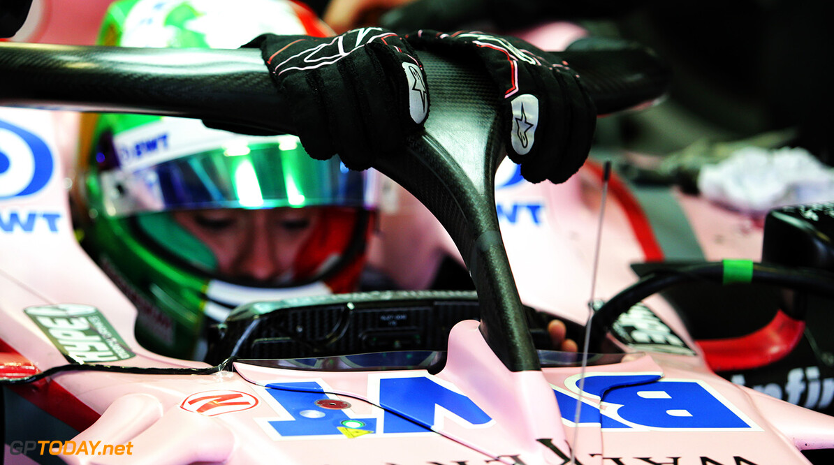 Formula One World Championship Alfonso Celis Jr (MEX) Sahara Force India F1 VJM10 Development Driver with the Halo cockpit cover. Mexican Grand Prix, Friday 27th October 2017. Mexico City, Mexico. Motor Racing - Formula One World Championship - Mexican Grand Prix - Practice Day - Mexico City, Mexico James Moy Photography Mexico City Mexico  Formula One Formula 1 F1 GP Grand Prix Circuit Mexico Mexican Mexico City Autodromo Hermanos JM779 Technical Detail Portrait GP1718b GP1718b_M