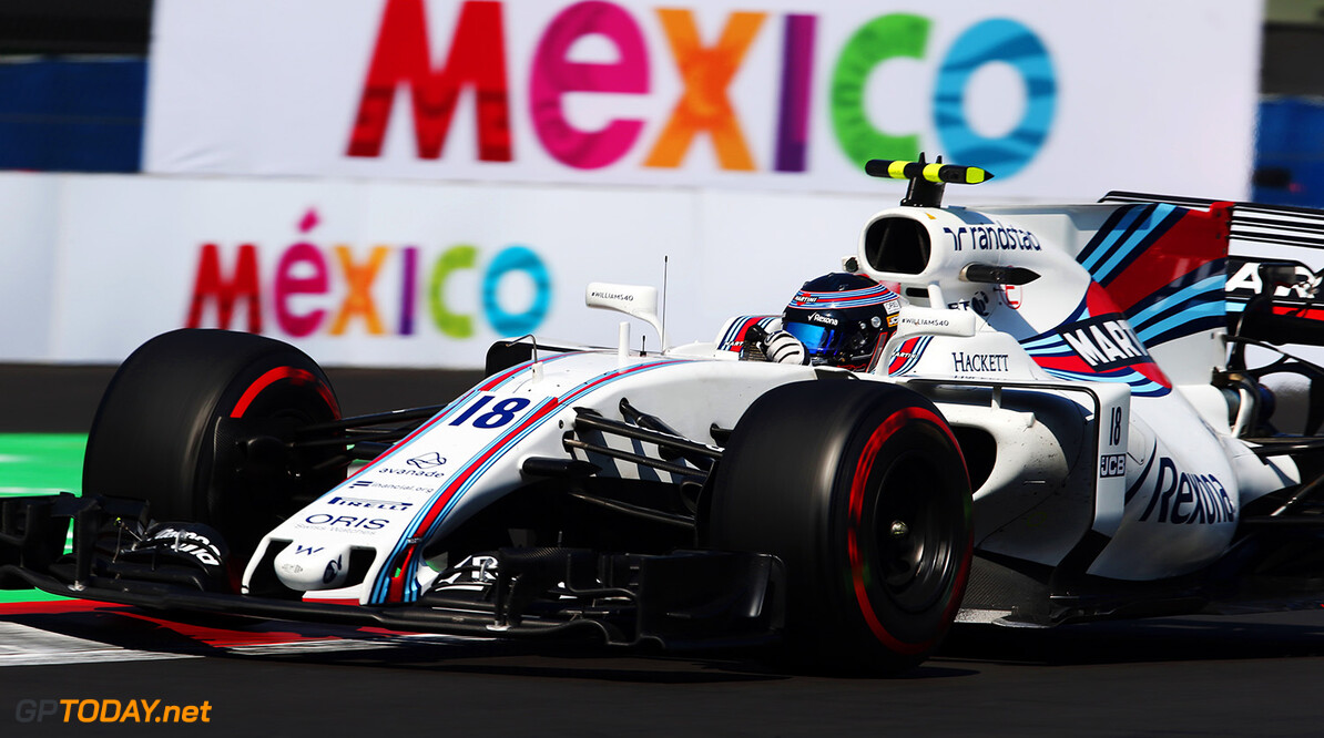 Autodromo Hermanos Rodriguez, Mexico City, Mexico. Friday 27 October 2017. Lance Stroll, Williams FW40 Mercedes. Photo: Charles Coates/Williams ref: Digital Image AN7T8395      f1 formula 1 formula one gp Action