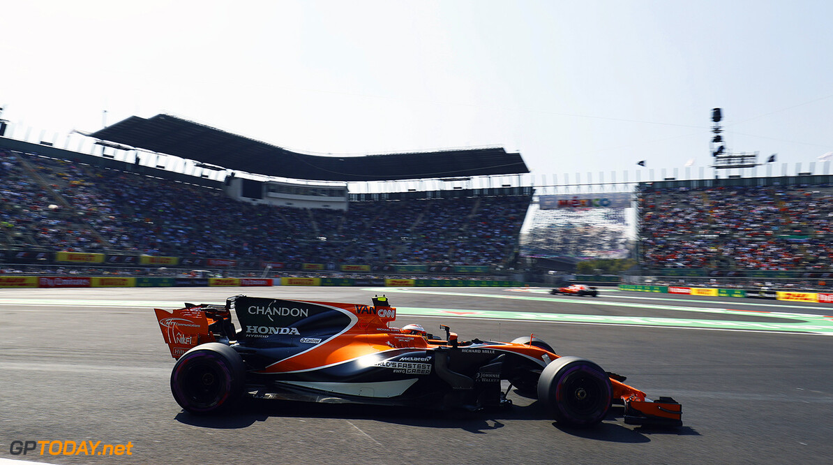Autodromo Hermanos Rodriguez, Mexico City, Mexico. Friday 27 October 2017. Stoffel Vandoorne, McLaren MCL32 Honda.  Photo: Steven Tee/McLaren ref: Digital Image _O3I6838  Steven Tee    f1 formula 1 formula one gp grand prix action