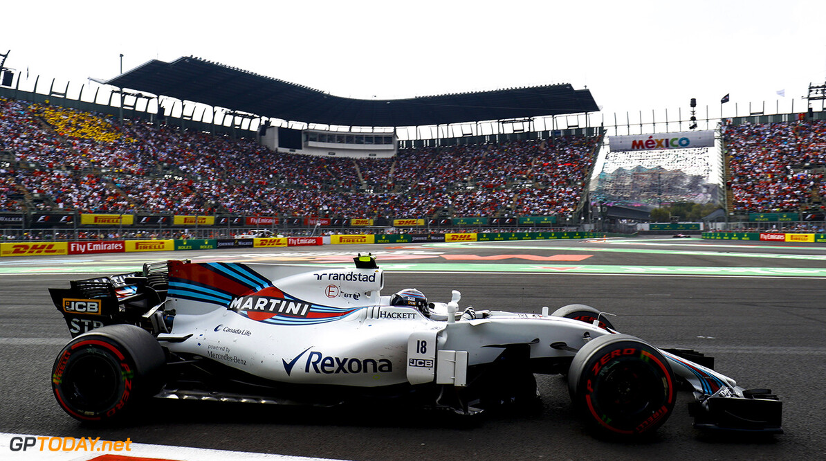 Autodromo Hermanos Rodriguez, Mexico City, Mexico. Sunday 29 October 2017. Lance Stroll, Williams FW40 Mercedes. Photo: Steven Tee/Williams ref: Digital Image _O3I0158  Steven Tee    f1 formula 1 formula one gp Action