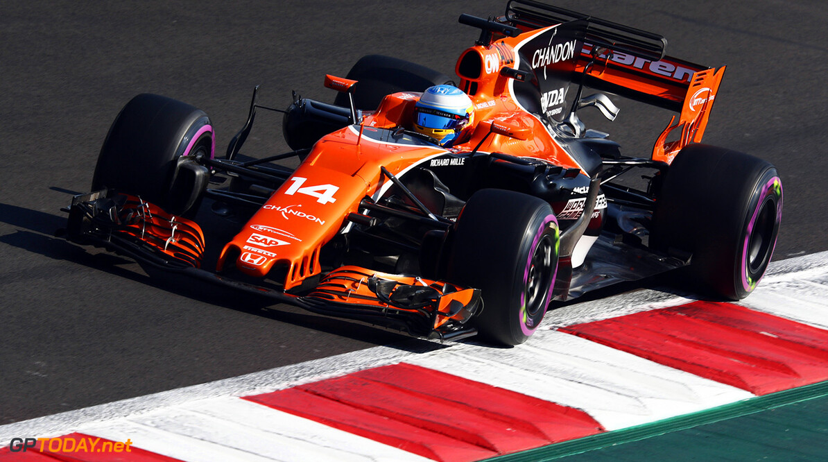 Autodromo Hermanos Rodriguez, Mexico City, Mexico. Saturday 28 October 2017. Fernando Alonso, McLaren MCL32 Honda. Photo: Sam Bloxham/McLaren ref: Digital Image _W6I0130      f1 formula 1 formula one gp grand prix Action